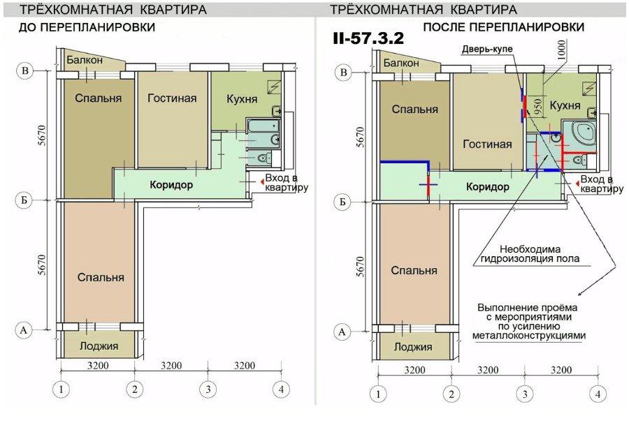 Размер центральной лоджии в 16 эт. доме.