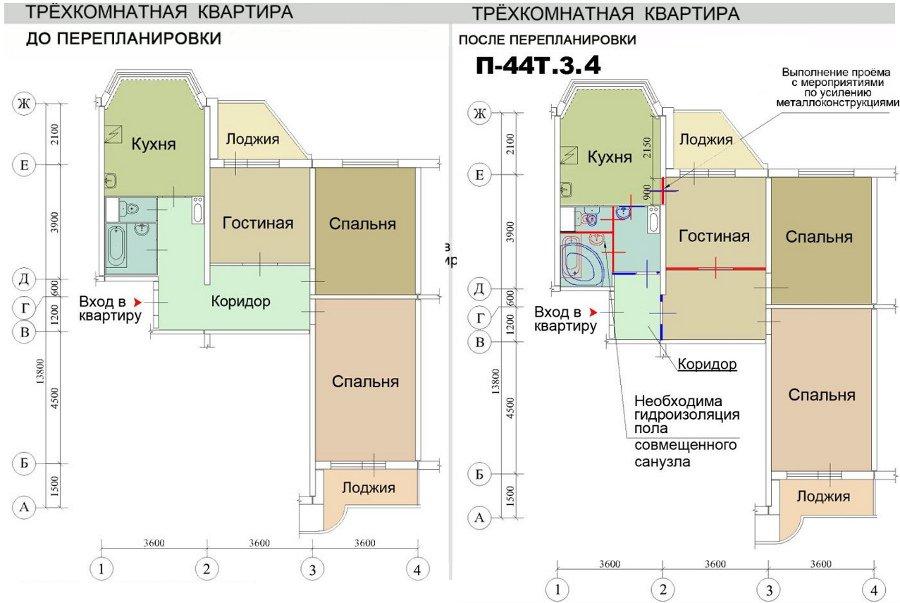 мужское дизайнерская планировка 3х комнатной квартиры п44 для любого