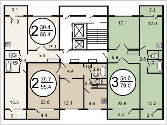 Серия дома п-47 балконные ниши.