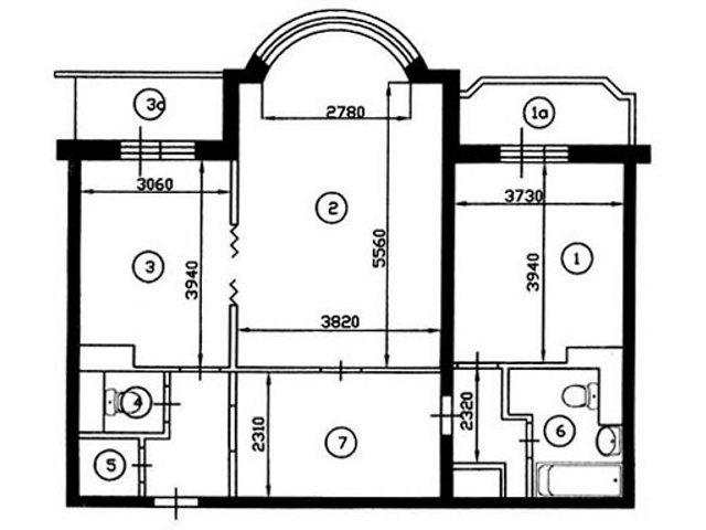 Ремонт квартир в домах серии и-155, перепланировка квартир.
