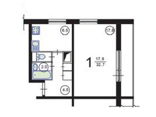 Ремонт квартир в домах серии 1605-ам/12, перепланировка квар.
